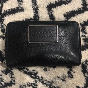 Marc by Marc Jacobs black leather ziparound wallet